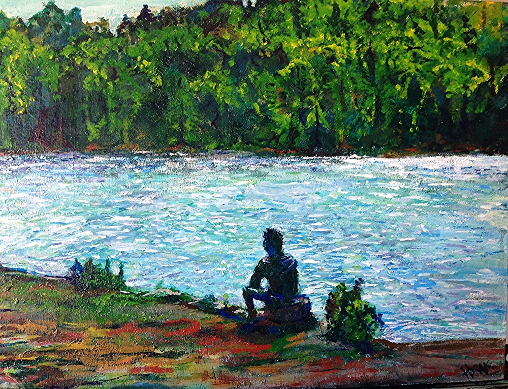 TeePee Lake, Algonquin Park.  Acrylic on Wood Panel. 12x16 Sold