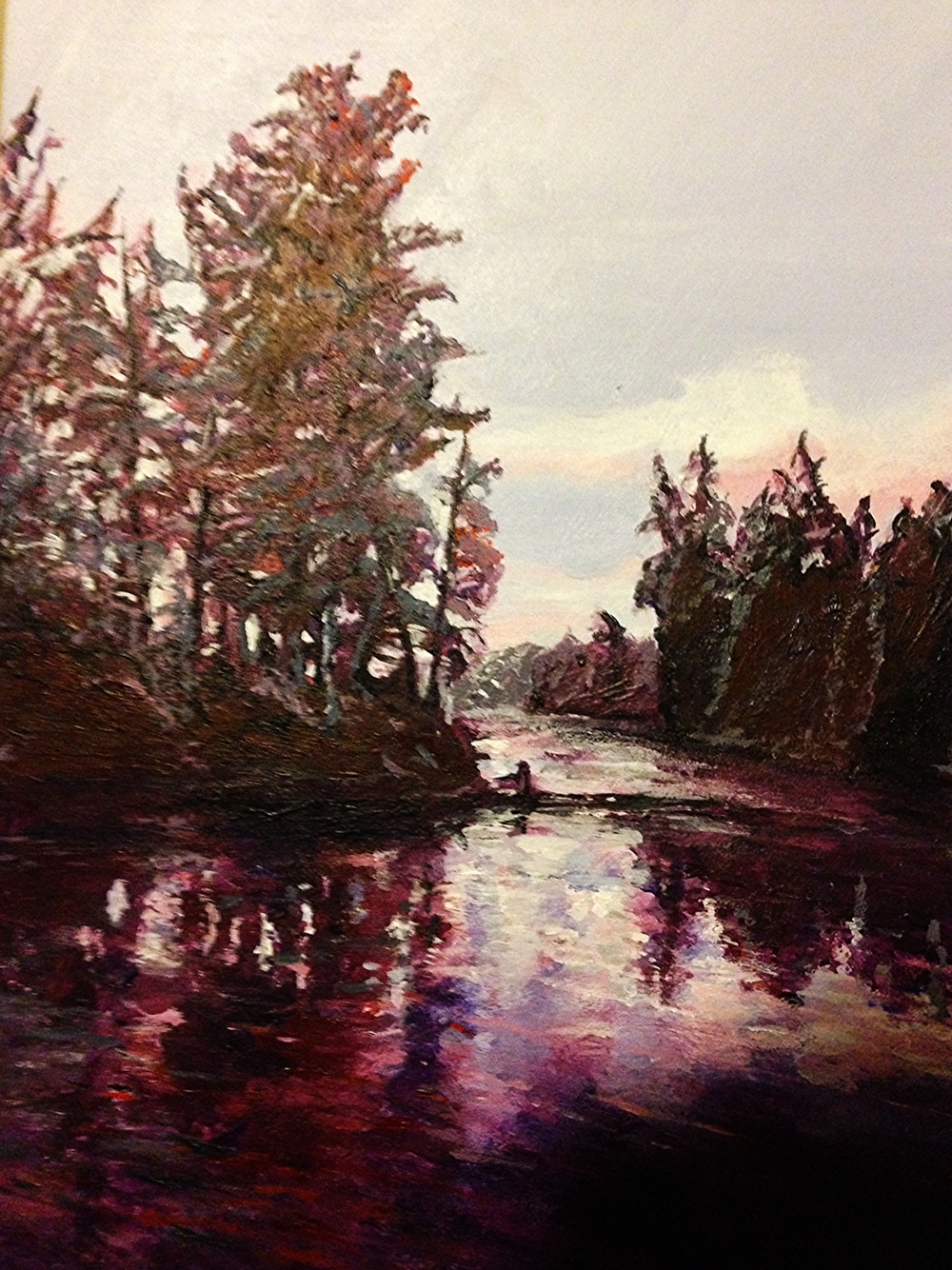 Canoe Lake, Ontario.  Acrylic on Canvass.  16x20 Sold