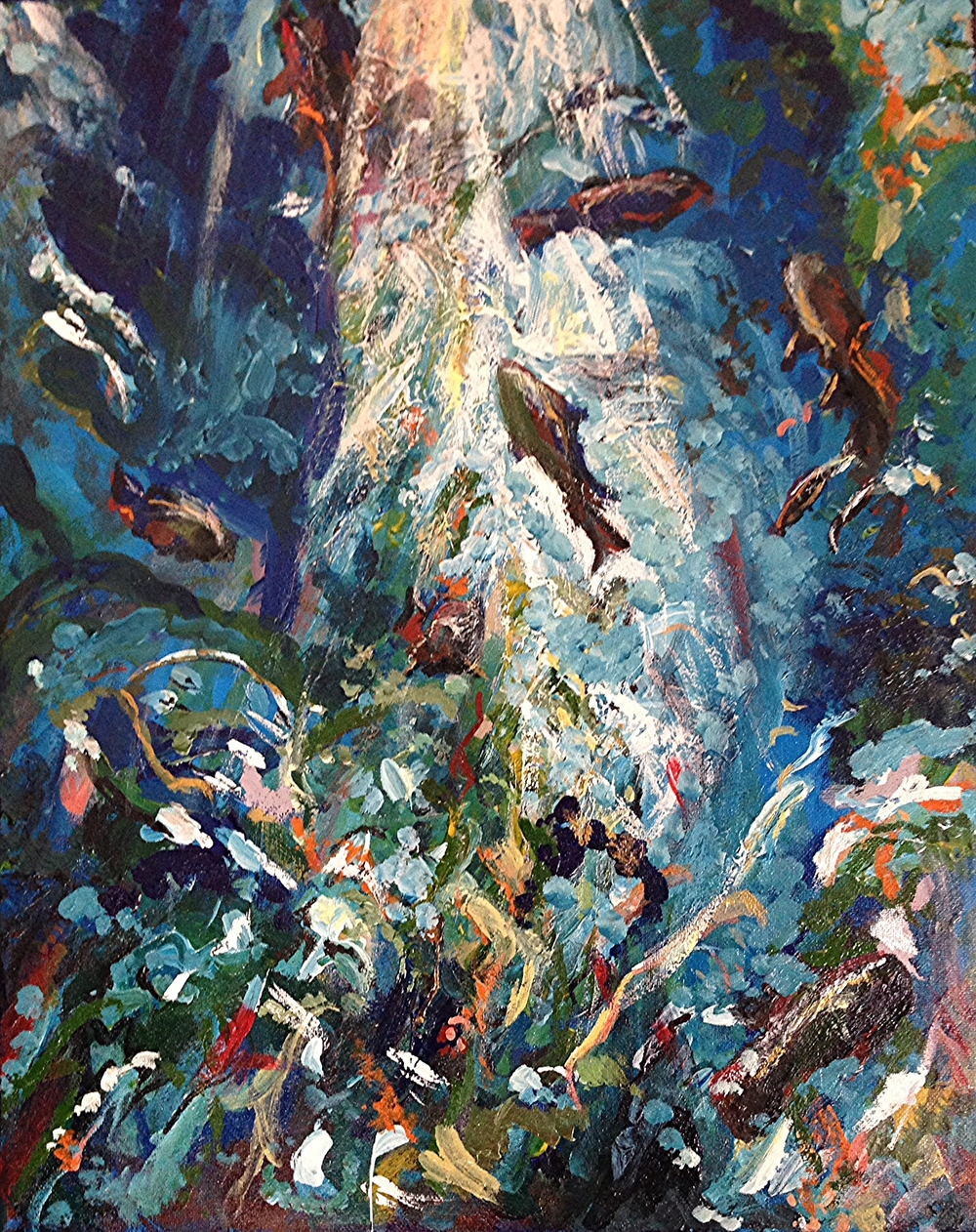 Toronto Aquarium.  Acrylic on Canvass.  Sold.