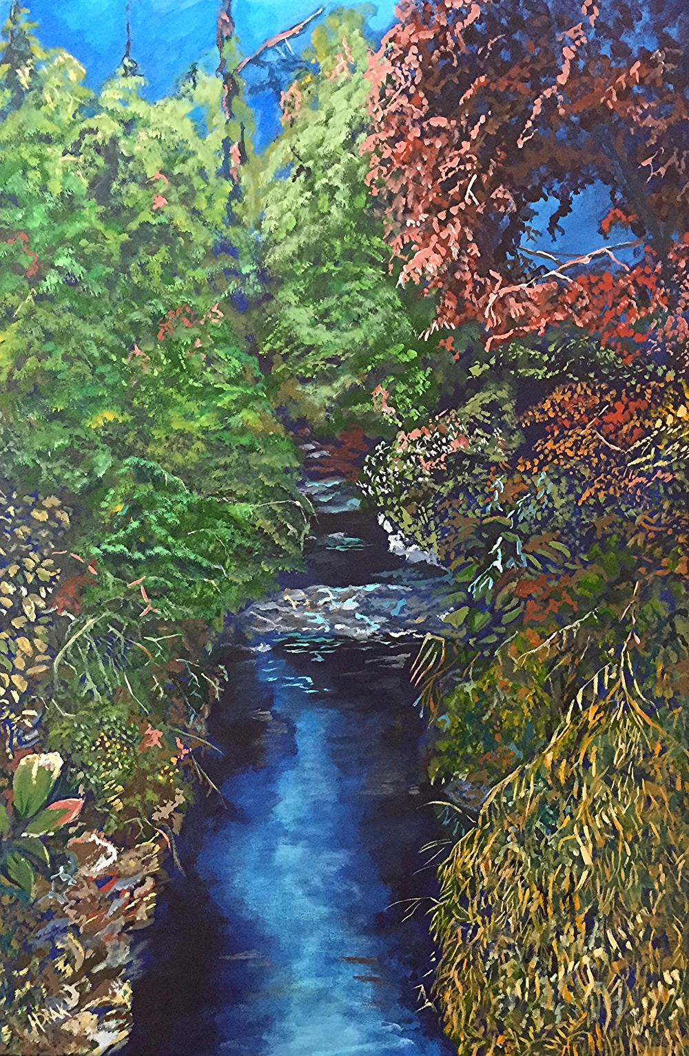 "The Public Gardens, Halifax.  Acrylic on Canvass.  20""x30""  SOLD"