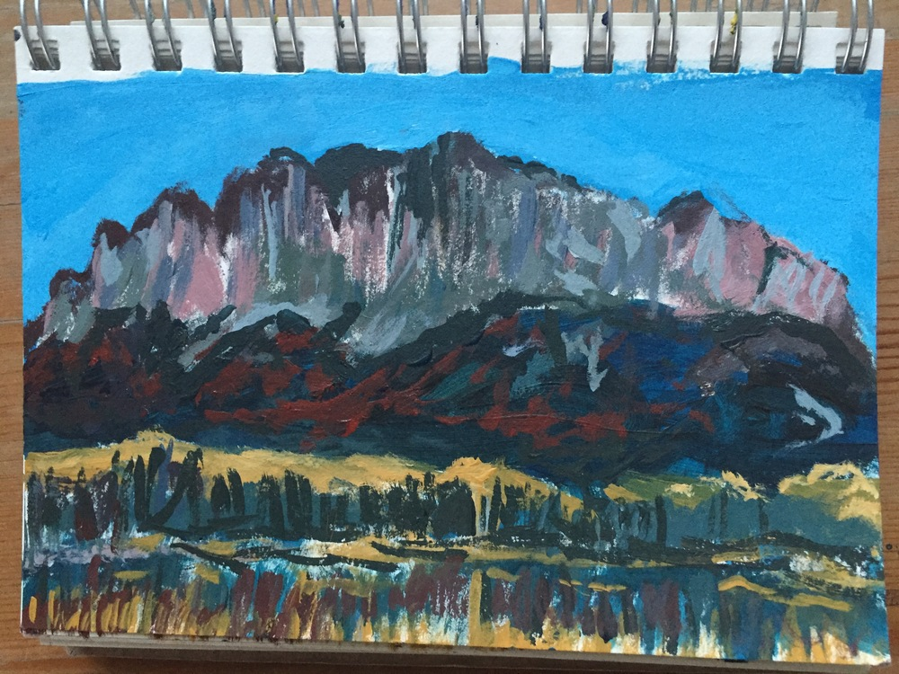 Mr. Yamnuska Sketch.  Climb every mountain?