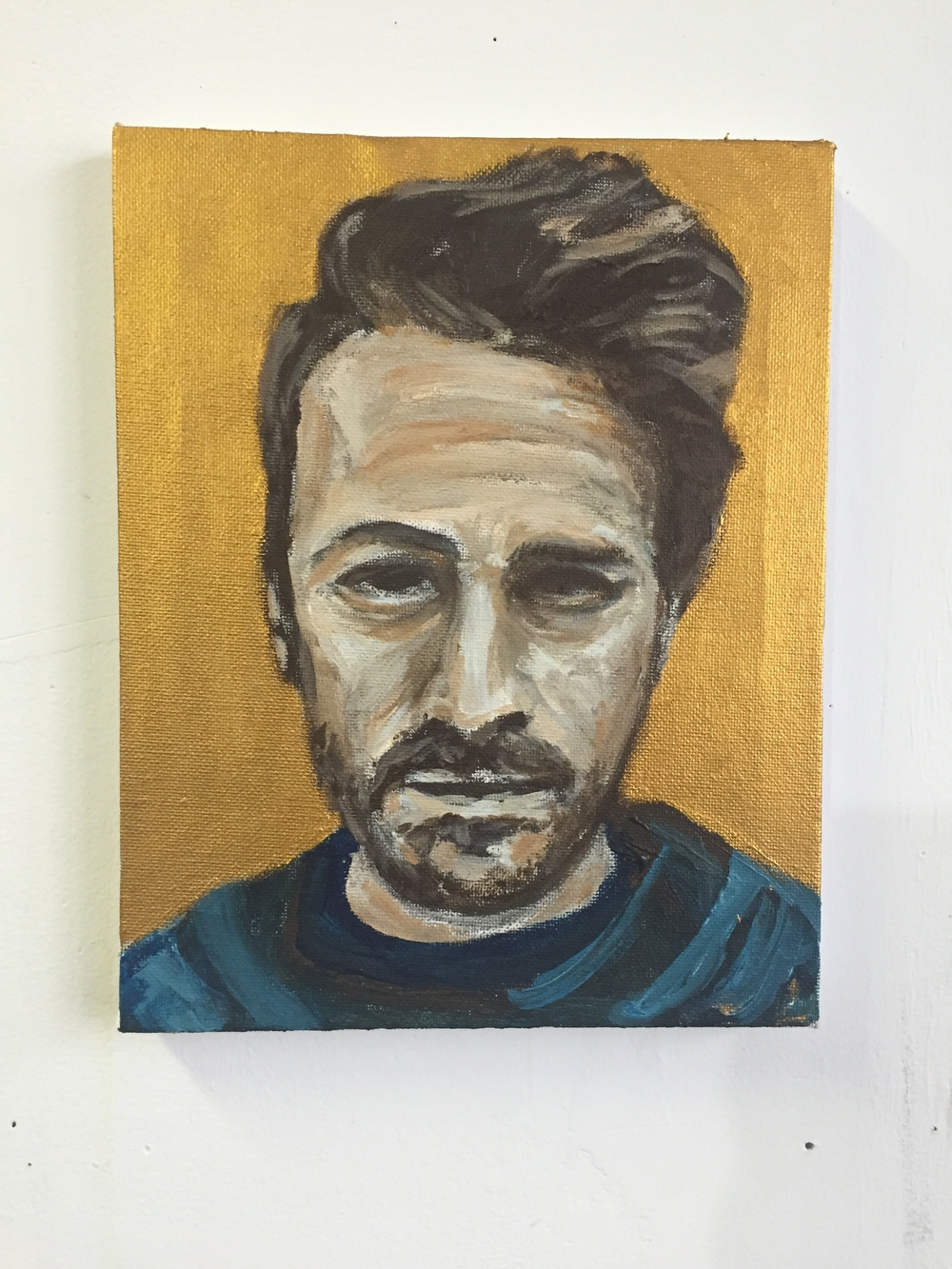 #500, Self Portrait.  Acrylic on Canvass