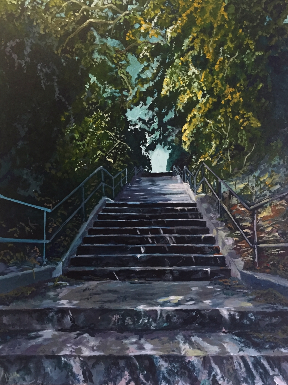Staircase to Regal Road