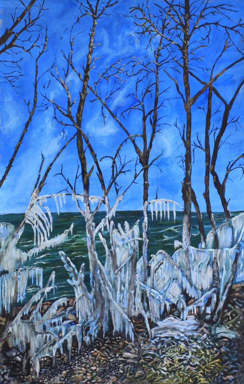 The Ice Storm.  Acrylic on Canvass.  5.5'x3' $1000