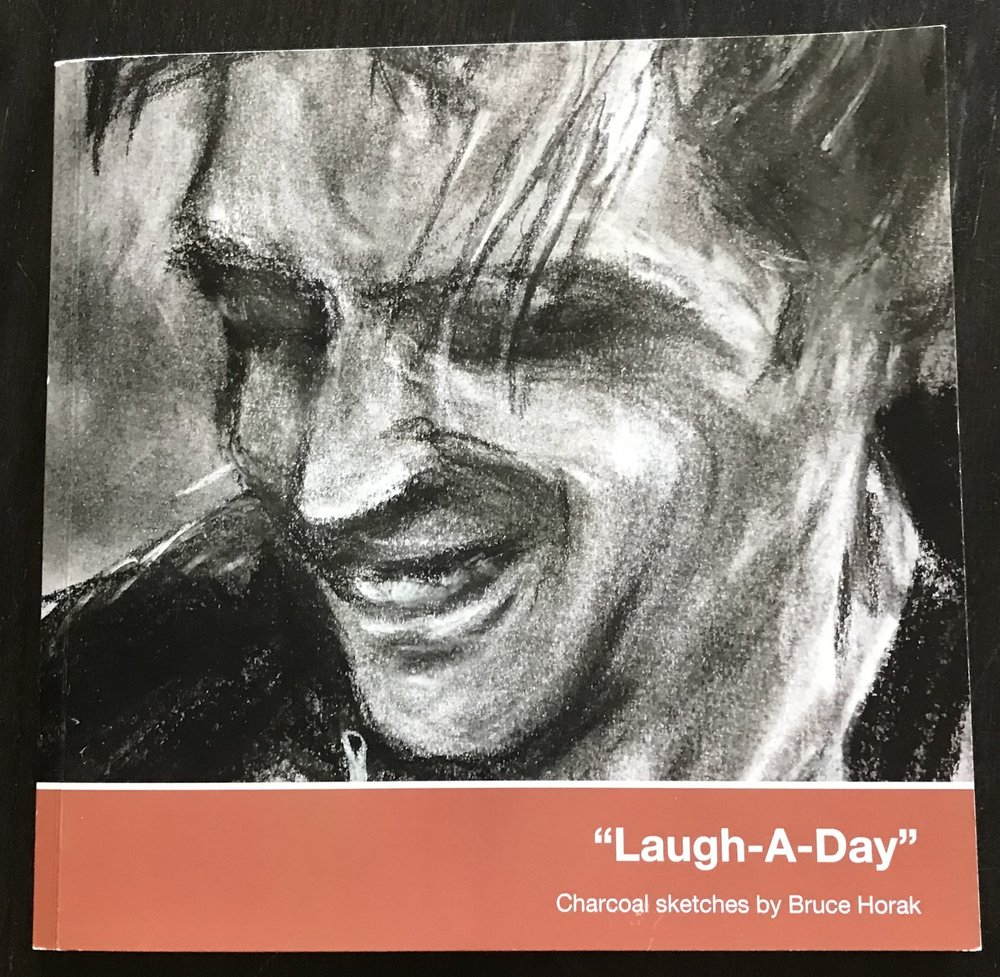 Laugh a day book charcoal sketches by bruce horak bruce horak
