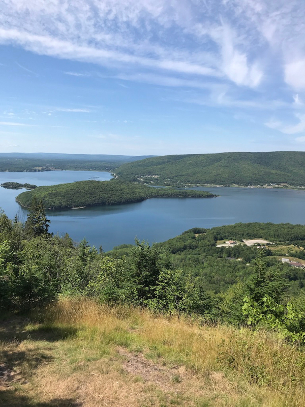 The view from the lookout on Salt Mountain, Whycocomagh, N..B.