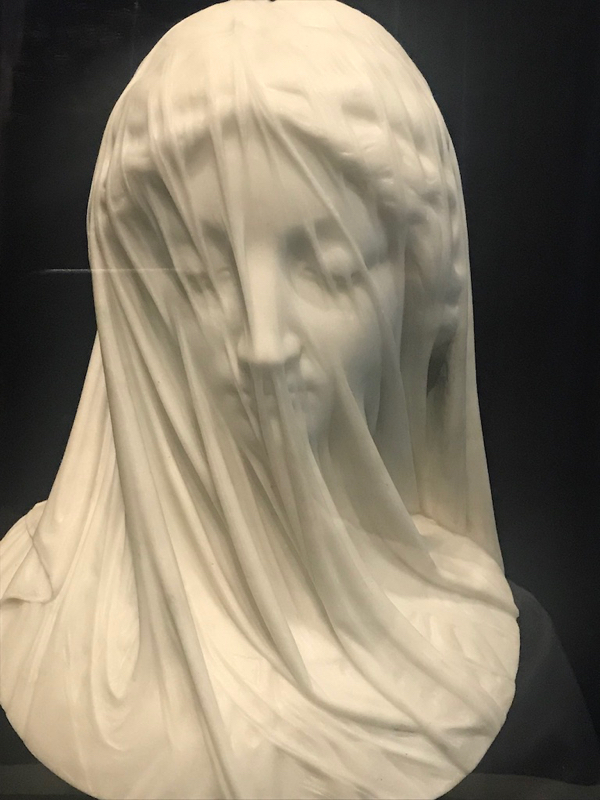 The Veiled Virgin. You'd never guess that this was carved in marble!