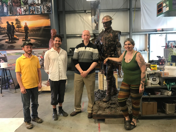 Had a tour of the iron foundry in NFLD. Artist and sculptor Morgan MacDonald gave the full tour and inspired