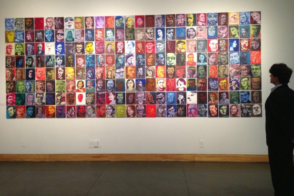 Installation of Portraits, Kelowna Art Gallery