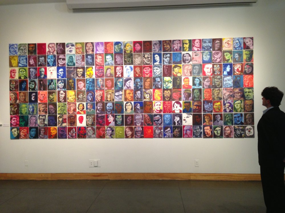 200 portraits installed at the Kelowna Art Gallery, 2013