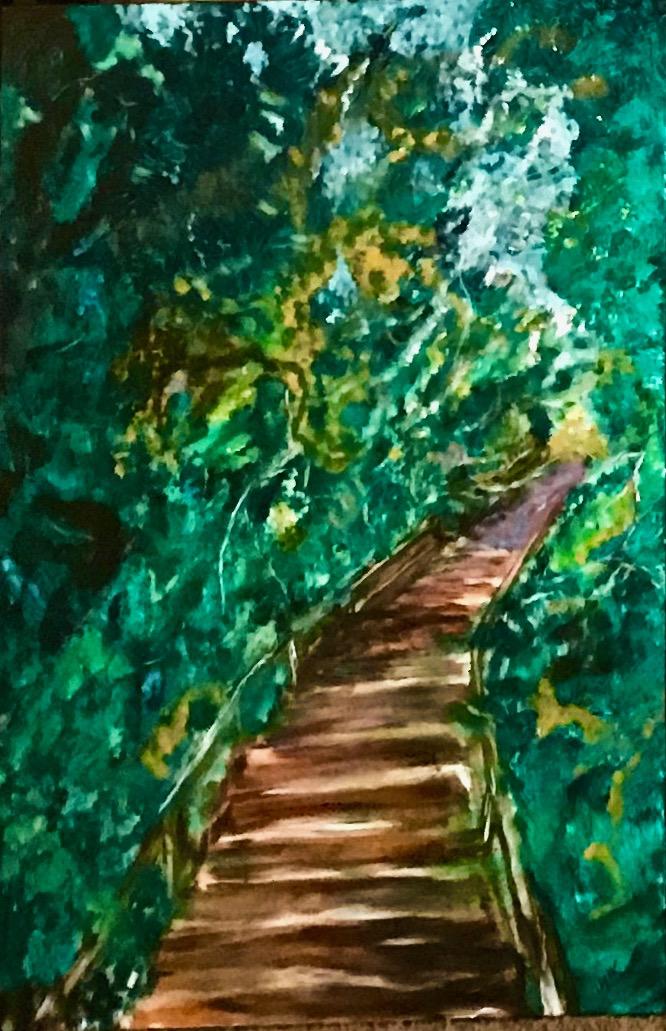Cowhead, NFLD, Acrylic on Canvass, 2.5'x3', $$2160