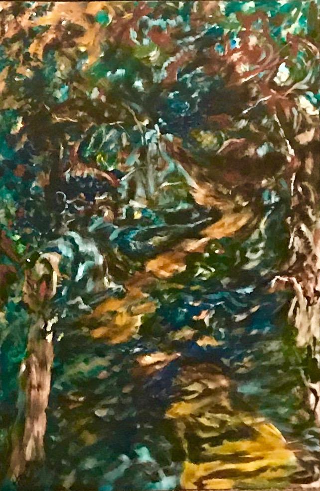 Salt Mountain, Cape Breton, Acrylic on Canvass, 2.5'x3', $2160