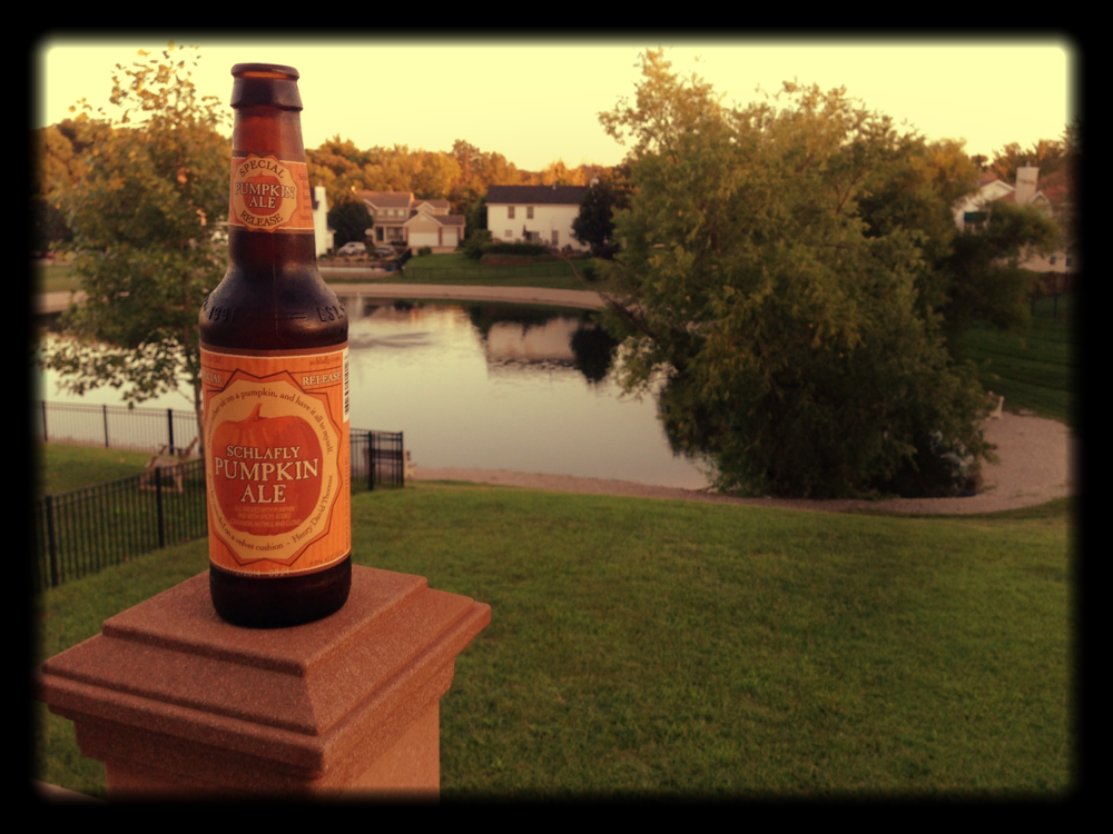 Schlafly Pumpkin Ale...oh so good!