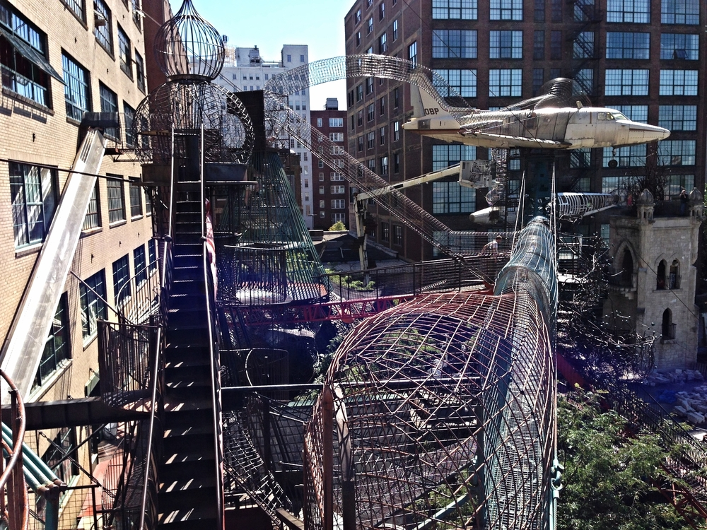 Outside view of City Museum....lots of crawling and climbing.