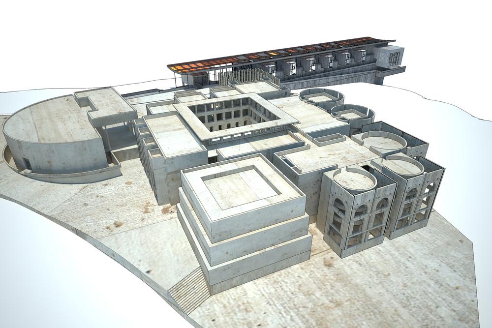 Digital Model | Detail of Meeting House