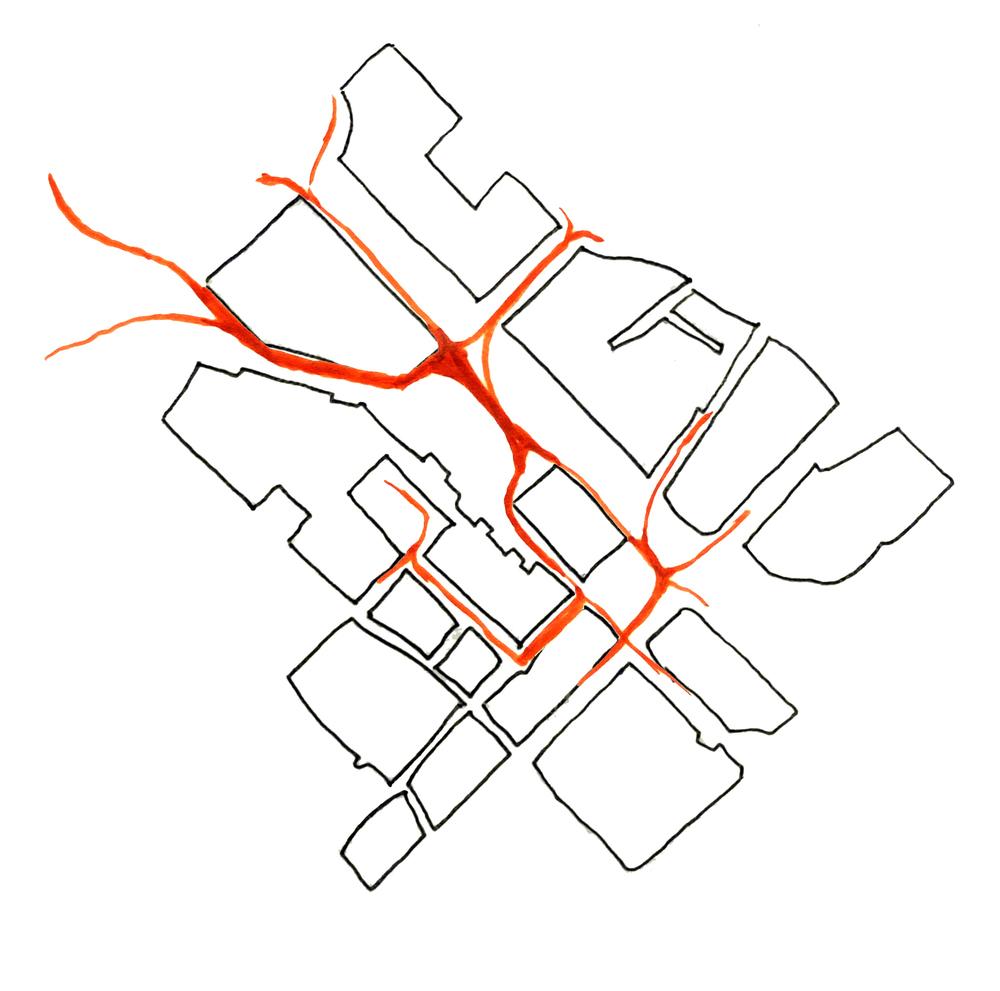 Sketch of Pedestrian Paths