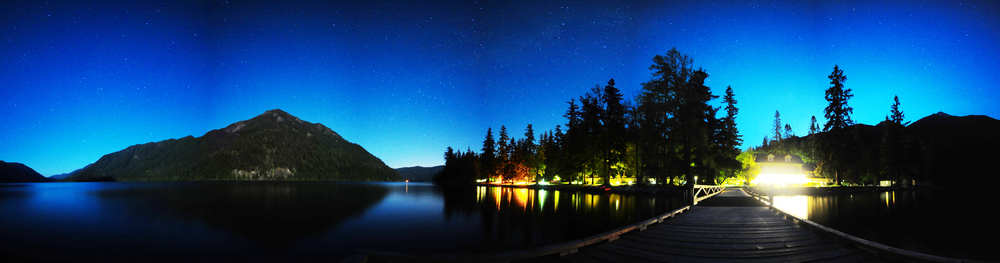 Lake Crescent Dock Night.jpg