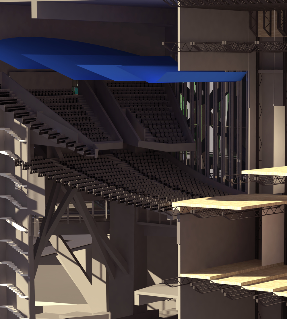 Section Perspective Detail; Blue Theatre
