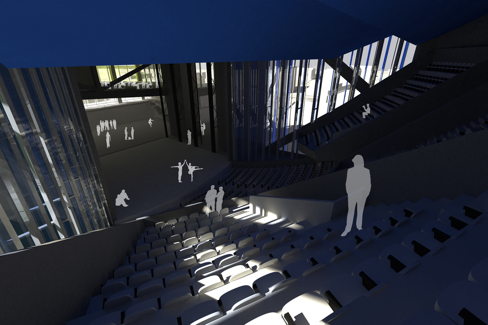 Interior blue theatre