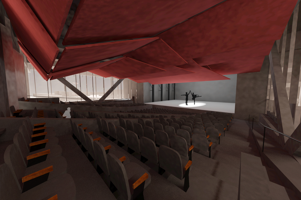 Interior red theatre