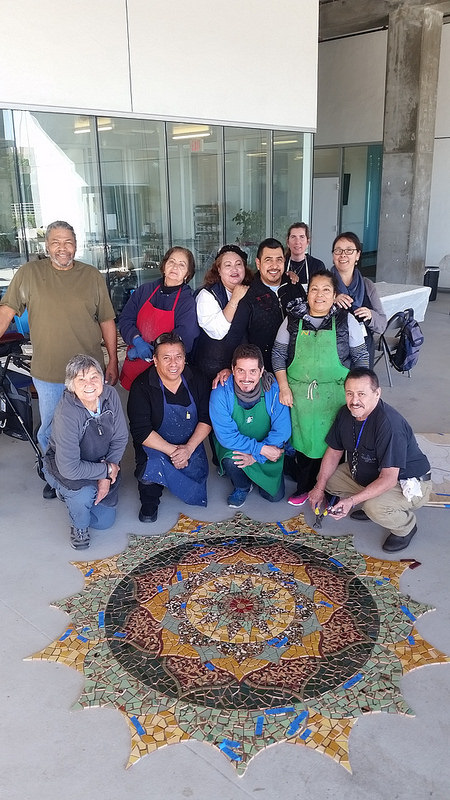 We Look Forward to Working With You - Top: John, Hilda, Guadalupe, Victor, Vickie, LuzBottom: Gale, Jose, Juan, Ninive, VictorLAFLA Nature Mandala, 2017