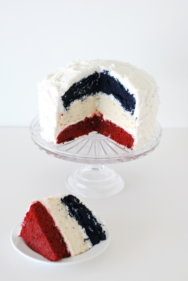 Red, White, and Blue Layer Cake