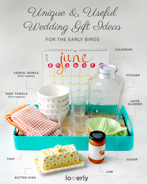 Wedding Gift Ideas Perfect for Early Birds