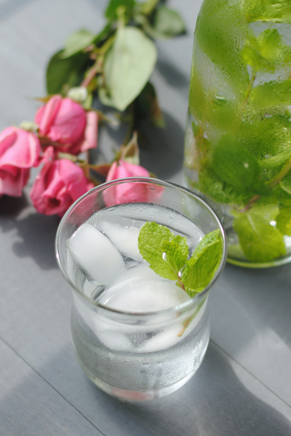 Mint and Rose Flavored Water