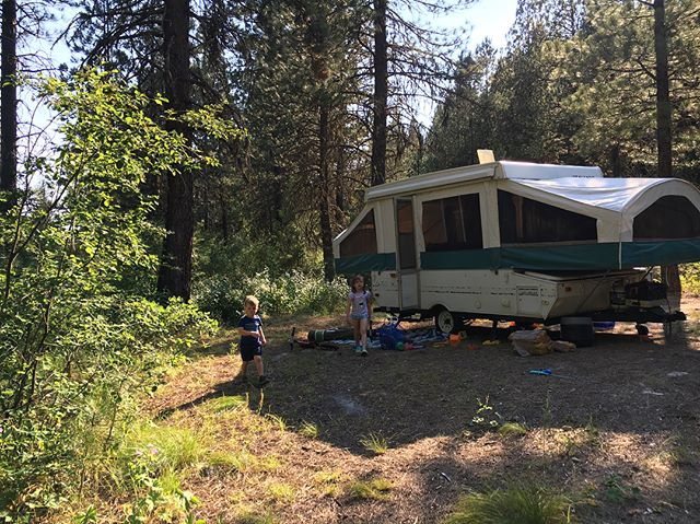 Took #fionaann and #jacobhawke on a little camping adventure this weekend. Nice little dispersed campsite close to home! Pt. 1