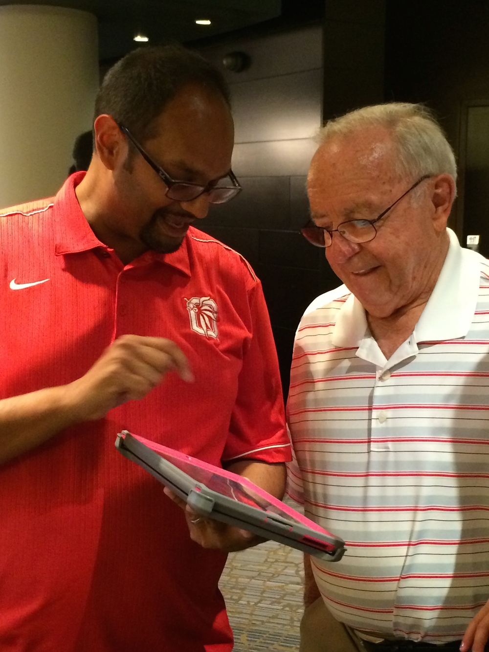 Earle Bruce checking out The Buckeye Block Party