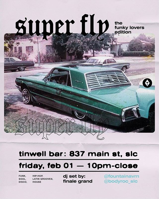 This weekend is going to be a fun one! Superfly on Friday w/ ya Body Roc fam, and then Vintage Pop Up Party on Saturday w/ the 6th Element fam. Don't miss out; come through and party! . . . #hiphop #funk #soul #house #superfly #party #latenight #slc #design #art #graphicdesign #bodyroc #bboy #bgirl #weekend #dance #social #local #utah #slchiphop #funky #boogie #cypher #freestyle #fun #dj #poster #layout #90s #vintage