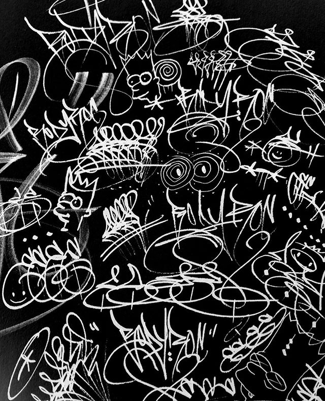 🤘🏽 . . . #wednesday #fun #lettering #handlettering #sketch #sketchbook #doodle #art #latenight #blackbook #grunge #texture #abstract #blackletters #markers #brush #tag #writing #scribbles #bored #calligraphy #hiphop #illustration #drawing #graffiti #mixedmedia #handstyle #name #vsco #vscocam