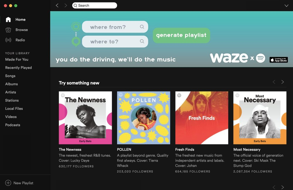 Activation for Spotify