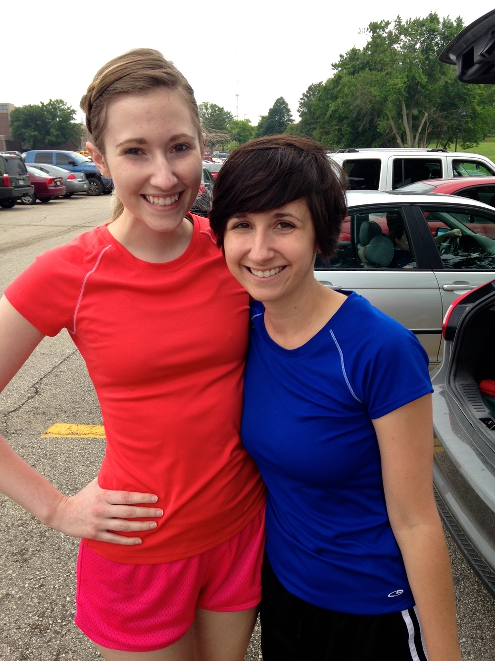 Mallory and I pre-race