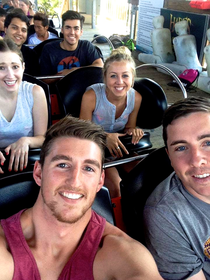 Everyone successfully psyched me out before this particular roller coaster. I mean, look at this beat up crash dummies in the background.