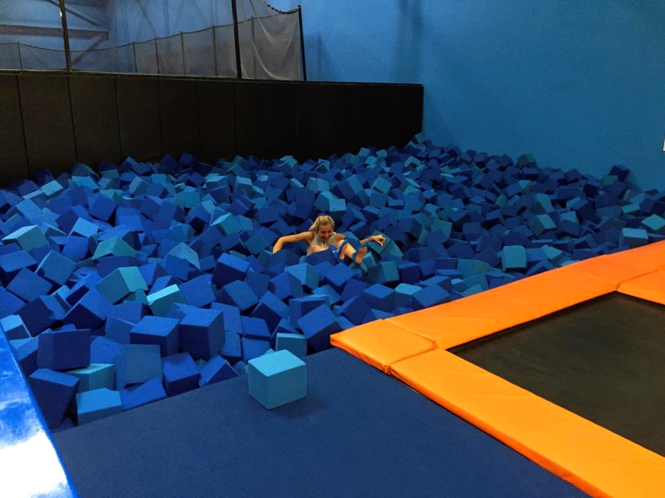 Unfortunately, it was a little tough getting OUT of the foam pit...