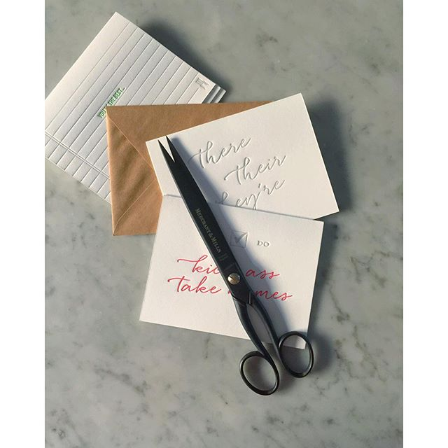 Couldn't resist these scissors from @broomestgeneral even though they were a major #treatyoself moment. Scissors can be an investment, right? #letterpress #impulsecontrol #merchantandmills