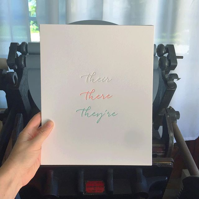And now, a print. ✔️✔️✔️ #thelibrarypress #letterpress #thatsdarling
