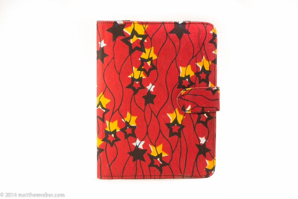 Vibrant handmade ipad case made in Lagos, Nigeria.  A portion of the proceeds support local designers and artisans at Lekki Market.  Shop at etsy.com/shop/dualcitizenshop.com