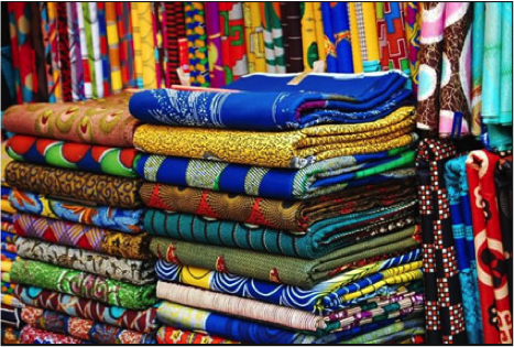 Fabrics in Lekki Market. Lagos, Nigeria   Source: TransitionsAbroad.com