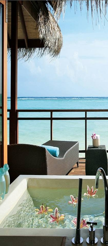 creativetravelspot :     Lux Maldives Resort on the island of Dhidhoofinolhu in the Indian Ocean
