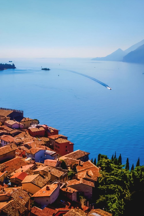 italian-luxury :       A view from the Castle , Malcesine, Italy