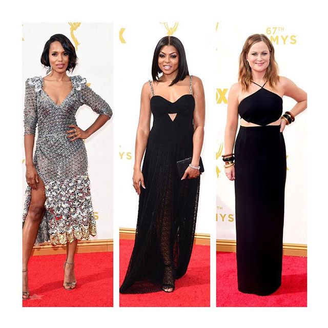 About Last Night: Our Fave Looks From The Emmys. Link in profile 👆🏾 #dualcitizen #emmys #emmys2015 #redcarpet #bestdressed #kerrywashington #tarajiphenson #amypoehler #fashion #style #awards #awardshow