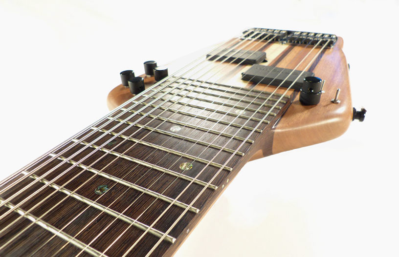 T  raditionally hand-worked jumbo frets  contribute to the lively feel and maximize sustain.