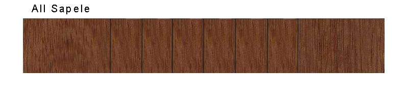 Visual Aid:  All sapele body sample