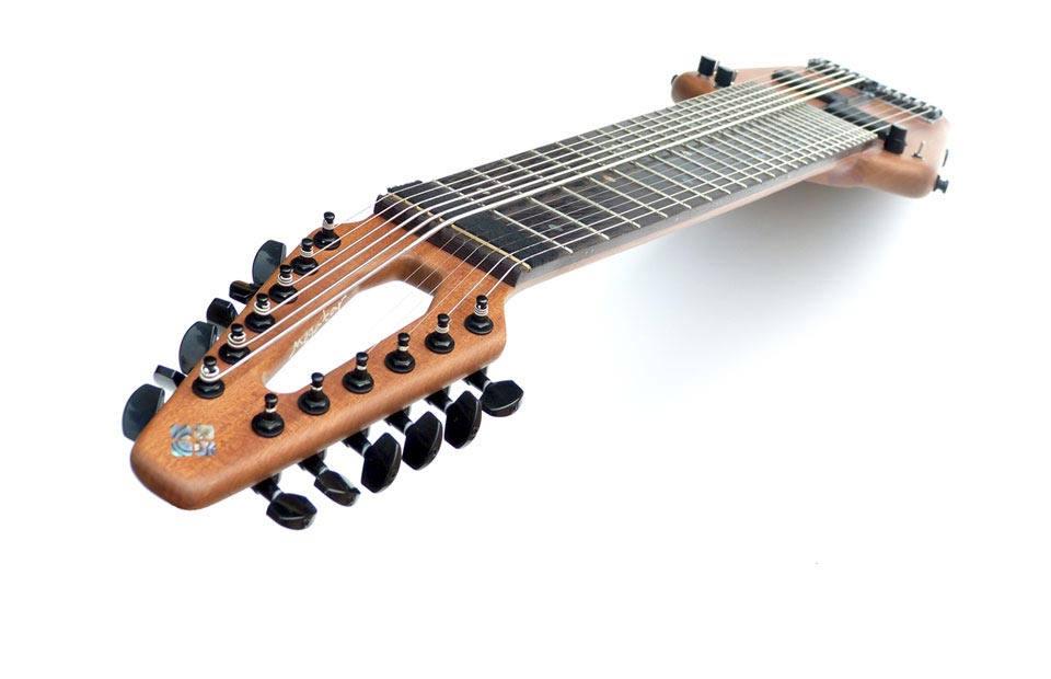A 14-degree tiltback headstock and zero-fret design are the formula for consistent action, sustain and resonance.