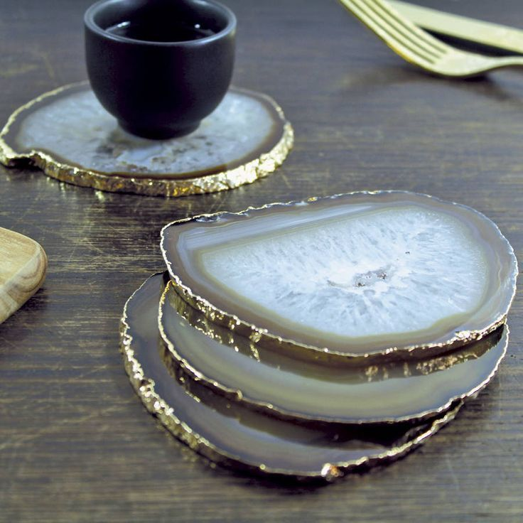 Agate table coasters
