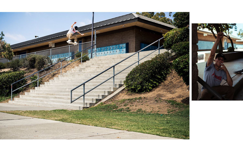 Nick Merlino - Riding the Duffel Graphic Switch Ollie El Toro - Photo: Alex Papke