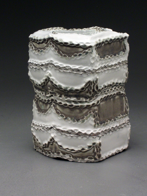 Grey and White Stacking Boxes