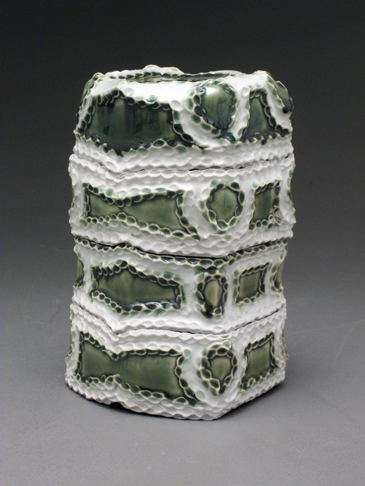 White and Green Stacking Boxes